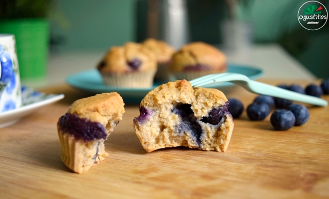 Muffins avena arandanos agustitos fitness light (2)