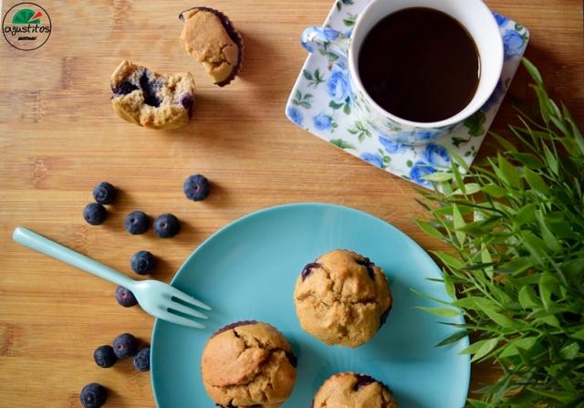 Muffins avena arandanos agustitos fitness light (3)